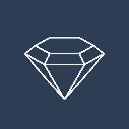 Diamond icon illustration Ilustracja