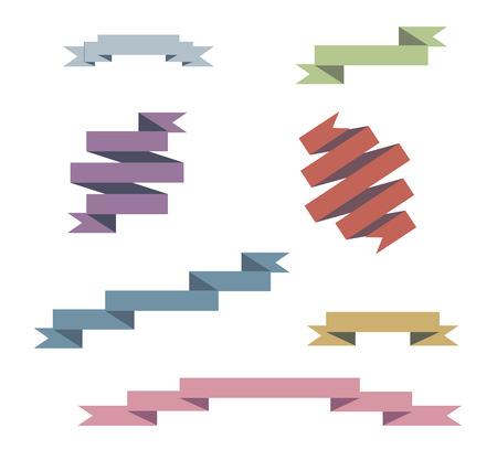 Blue Ribbons Set illustration
