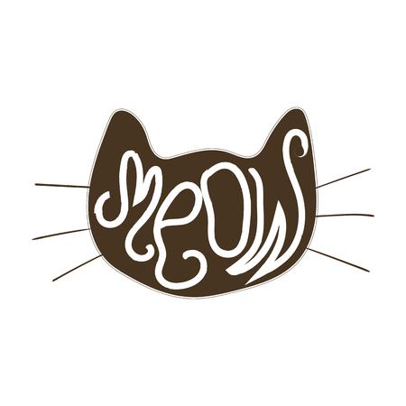 silueta de gato: Cara del vector del gato Vectores