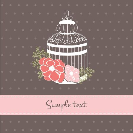 compliments: Vintage Cage with flower