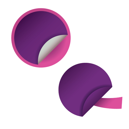 Two round blank stickers for web site, for web banners.