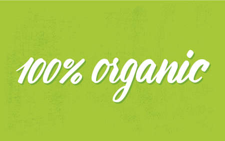 per cent: 100 per cent organic.  Illustration