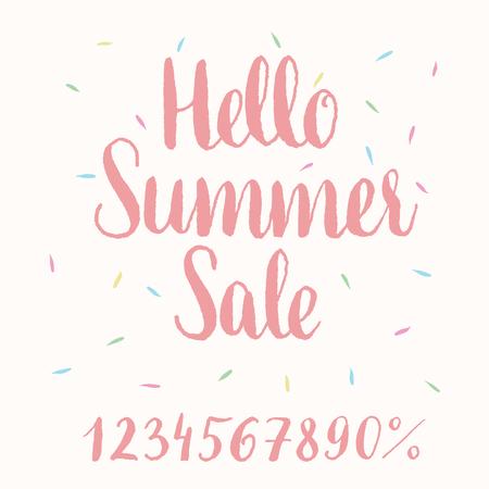 handlettering: Hello Summer Sale - hand-lettering.