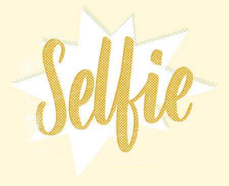 handlettering: Selfie. Hand-lettering Illustration