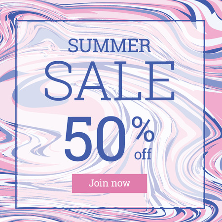 per cent: Marble texture. Summer sale up to 50 per cent off. Web banner or poster for e-commerce, on-line cosmetics shop, fashion and beauty shop, store.