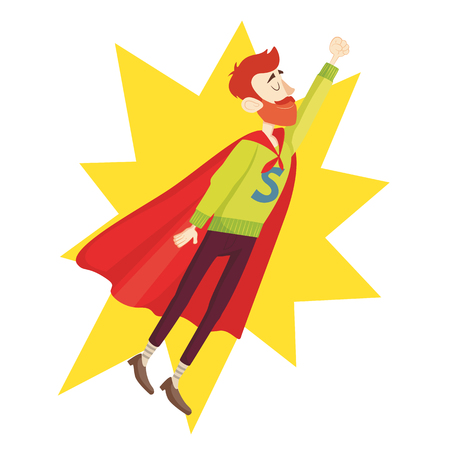 super dad: Super Dad. Fathers Day Greeting Card. Vector illustration. EPS 10 Illustration