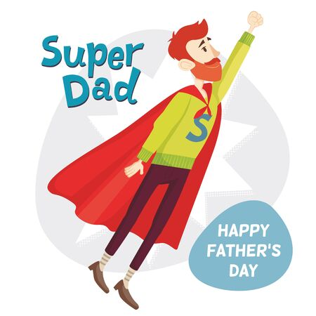 Super Dad. Fathers Day Greeting Card. Vector illustration. EPS 10 Ilustrace