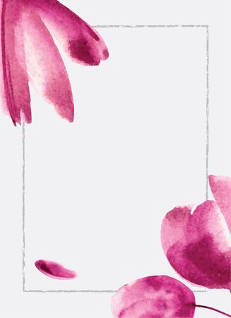 webbanner: Background with watercolor flowers. Can be use for web-banner, poster, card, invitation, flyer. Vector eps 10 Illustration