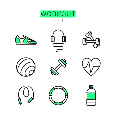 Workout Icons Set for Web and applications.