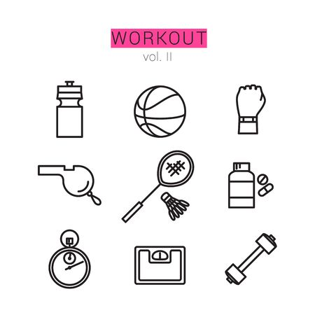 racquetball: Iconos de entrenamiento para web y aplicaciones.