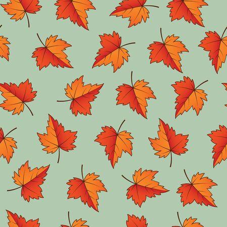 Fall leaves. Seamless Pattern. Vector illustration EPS10