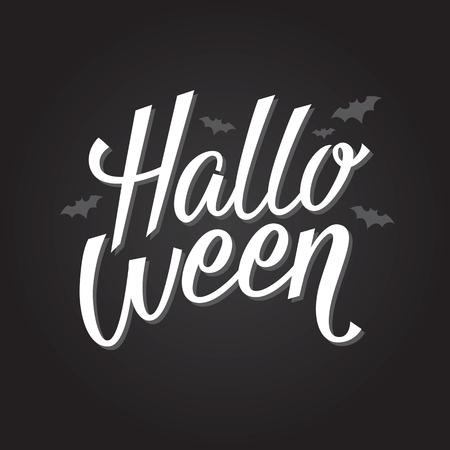 Halloween banner or poster. Vector lettering. Eps 10
