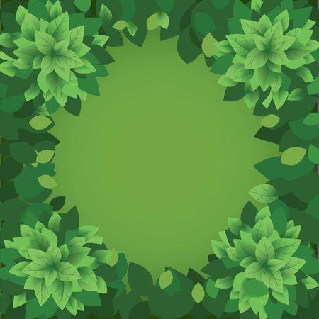 Green leaves background. Vector illustration. Eps 10 Çizim