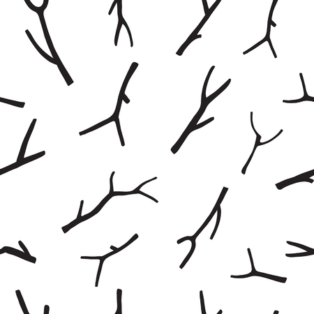 Christmas Rustic Seamless Pattern with branch. Vector EPS 10