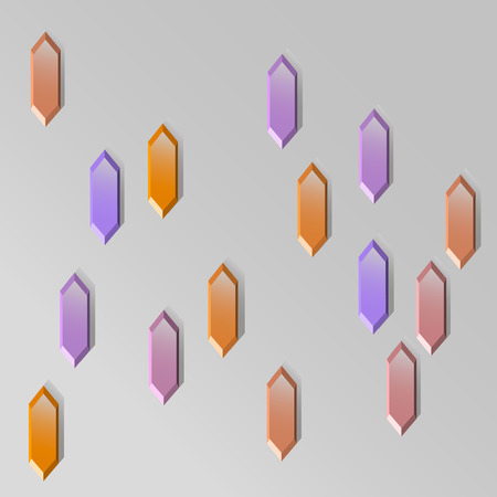 illustration abstract hexagon crystals gems