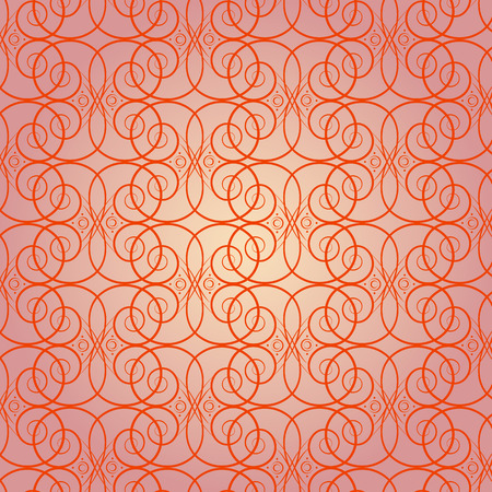 Abstract seamless pattern warm orange Illustration