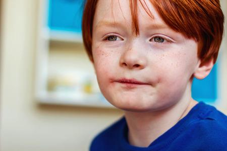 seven year old redhead boy
