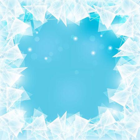 abstract frozen ice texture on winter window Illustration