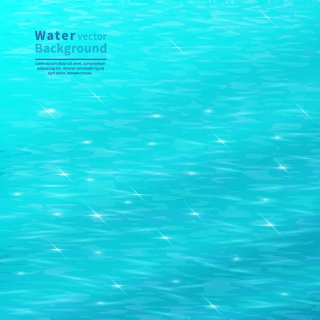 sunshine: Blue water surface with space for text.Vektor background.