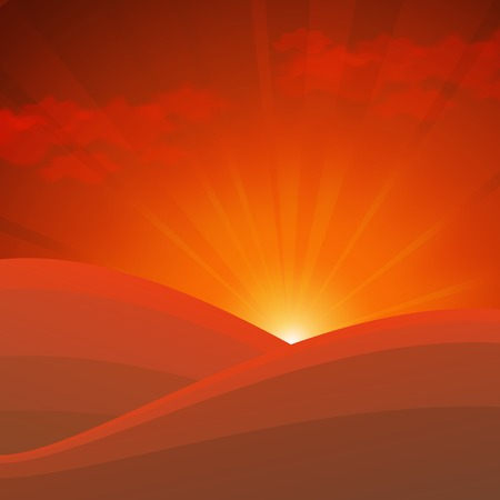 abstract nature background with golden sunrise in mountains