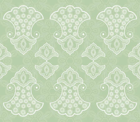vignettes: vintage seamless pattern with vignettes and curls Illustration