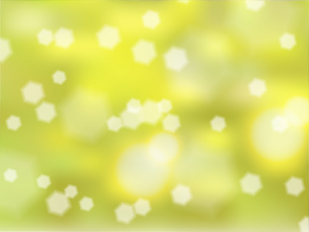 Nature blurred background with green grass, daisies.Abstract with bokeh defocused lights