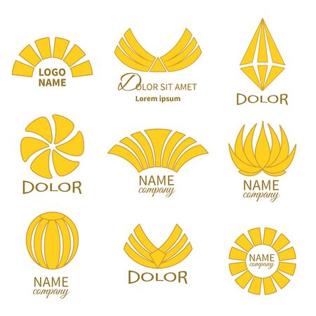 Set of business icons isolated on white.Labels, badges and  design elements.Business icon Flat Collection Vector