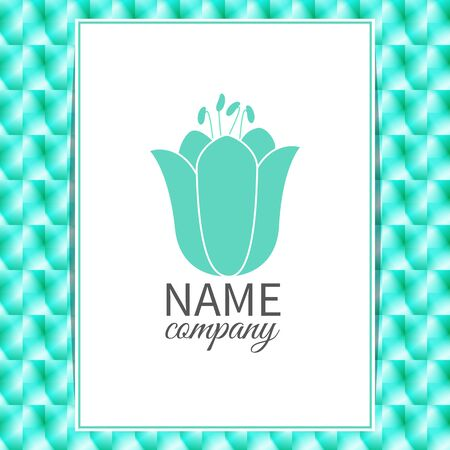 icon with text box on blurry background.Labels, badges and floral design elements Vector
