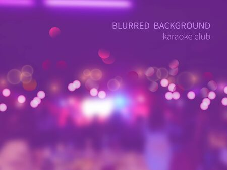 karaoke bar: Vector blurred background with bokeh effect.Colorful crowd of people