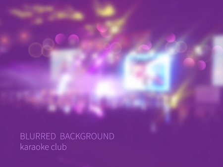 Vector blurred background with bokeh effect.Colorful crowd of people Vector