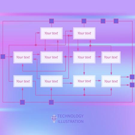 algorithm: Template abstract algorithm scheme with design elements for presentation