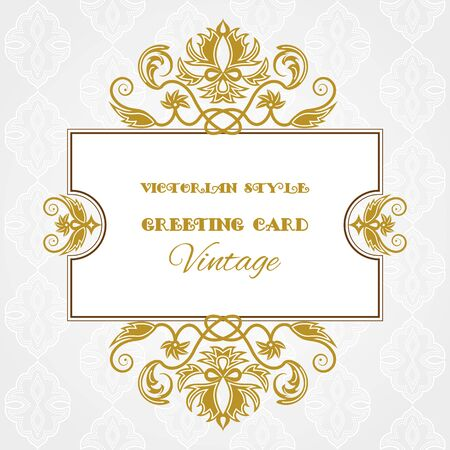 vignettes: Decorative vintage frame with vignettes Victorian style with space for text. Illustration