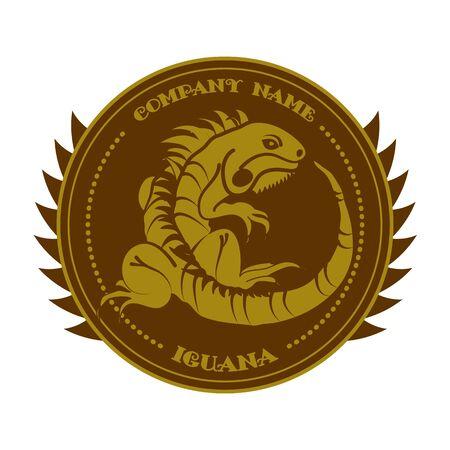sport team: Iguana on white background.Symbol of sports team.