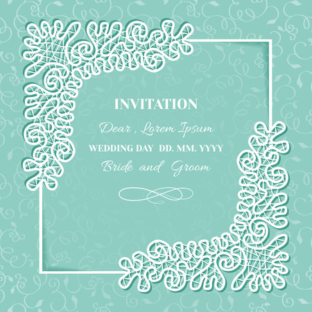 Vintage Background With Frame Of Lace.Template Invitation ...