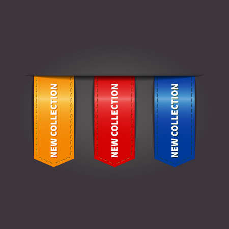 new collection: Set labels and flags for sale new collection Illustration
