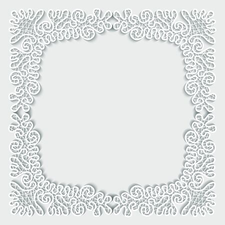 jubilees: Luxury white frame ornament art deco isolated on white background