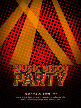laser light: Disco party poster with text in background abstract laser light