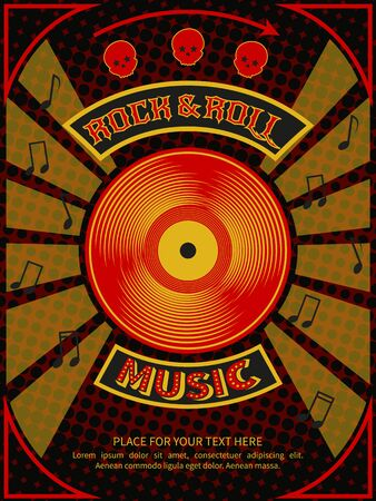 laser light: Rock and roll party poster with text in background abstract laser light