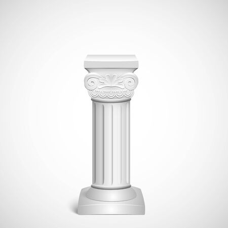 roman column: Classic architectural detail  roman column close up on background old paper