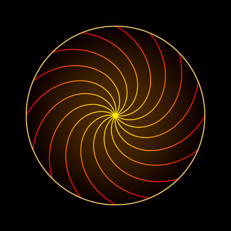 spiritual meditation creation: Abstract variations symbol of sacred geometry flower of life neon light on dark background
