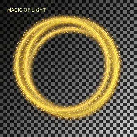 light circular: magic neon light circular lines on graphic modern background
