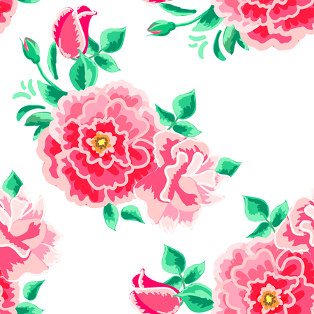 vintage background pattern: seamless pattern of floral ornament wallpaper background in vintage style print for textiles