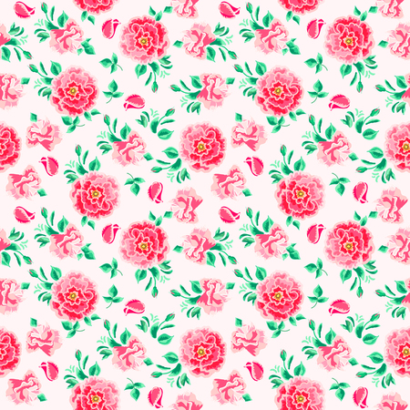 grunge wallpaper: seamless pattern of floral ornament wallpaper background in vintage style print for textiles