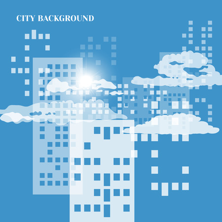 city background: Abstract background of city with lighting windows,clouds
