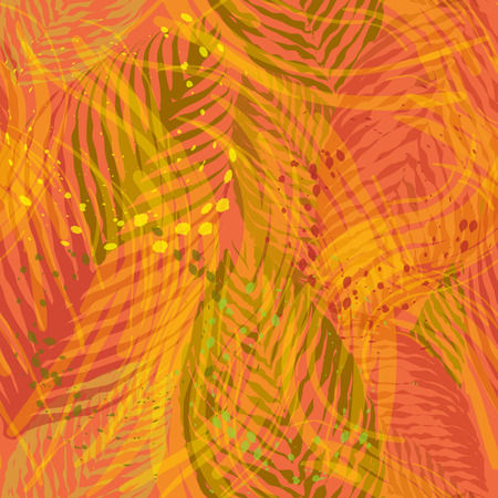 ethnic mix: seamless pattern with ethnic and tribal motifs,mix splatters and streaks brushstrokes in multiple bright colors
