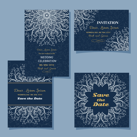 Vintage floral background.Set trouwkaart of uitnodiging grens opengewerkte patroon met kant