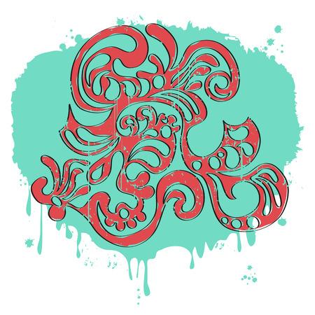 abecedario graffiti: Mano letras del alfabeto de graffiti.