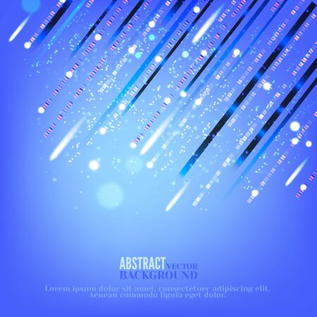Abstract cyberspace background for business,web design, print or presentation.Concept of flying glowing particles