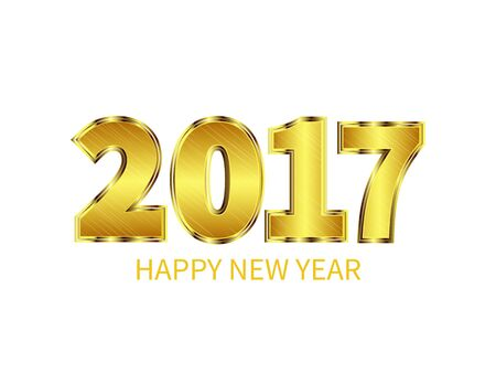 gold numbers: New Year 2017 celebration background. Gold numbers. Greeting card template. Vector illustration. Illustration