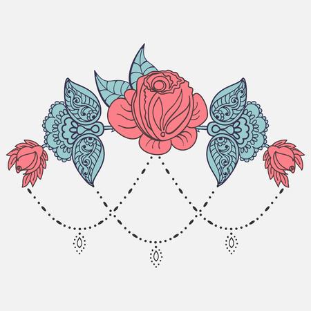 Rose tattoo pattern Illustration